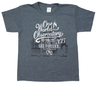 One World Observatory Youth Scripty Tee