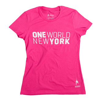 One World Observatory Ladies Pink Tee