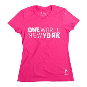 One World Observatory Ladies Pink Tee