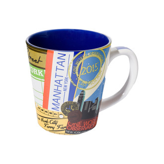 One World Observatory Vintage 12oz. Vintage Tapered Mug
