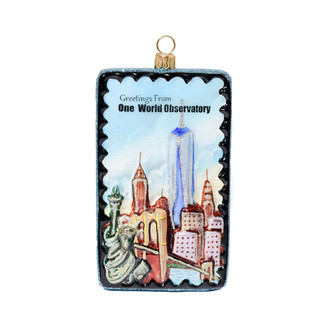 One World Observatory OWO Postcard Ornament