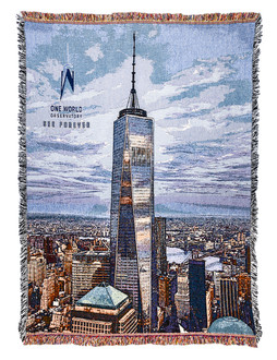One World Observatory Tapestry Blanket