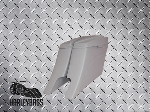 """2014 Harley Davidson Stretched Saddlebags w/6.5"""" Speaker Lids """"Down + Out"""" Style"""