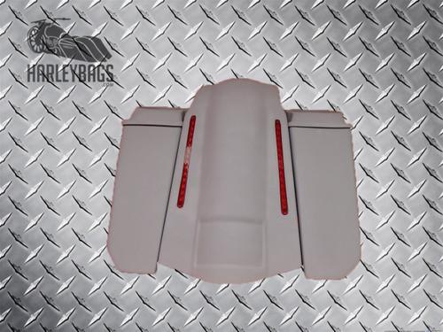 "5"" Stretched Angle-Cut Speaker Saddlebags & LED Fender"