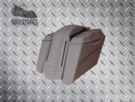 """5"""" Stretched Saddlebags Quad Speaker Lids & LED Fender Uncut"""