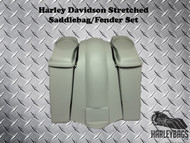 "Harley Davidson 6"" Extended Stretched Saddlebags Bags & Fender Softail Fatboy"