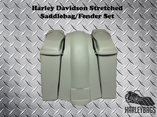 Harley Davidson 6 Extended Stretched Saddlebags Bags Fender Softail Fatboy