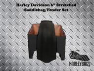 """Harley Davidson 6"""" Stretched Saddlebags & Fender Set"""