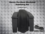 Harley Davidson Bagger Stretched Saddlebags & Rear Fender - No Cut Outs