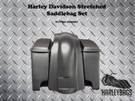 Harley Davidson Extended Saddlebags + Lids & Rear Fender