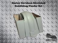 "Harley Davidson Softail 6"" Stretched Saddlebags and Fender - Longer Fiberglass"