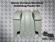 "Harley Davidson Softail 6"" Stretched Saddlebags and Fender - Speaker Cut Lids"