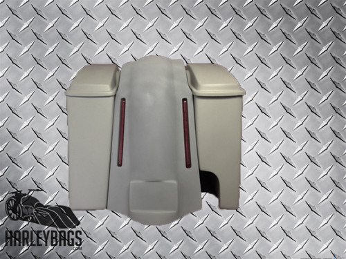 Harley Davidson Softail Extended Stretched Saddlebags With Fender 2 In 1 Pipe