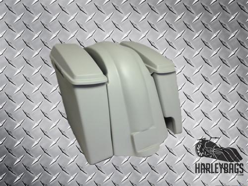 Harley Davidson Softail Heritage Fat Boy Extended Stretched Saddlebags Lids Fender