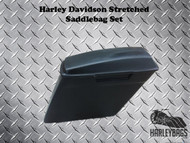 "Harley Softail Fatboy 6"" Stretched Fiberglass Saddlebags - 2-in-1 Right Cut Out"