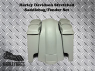 "Harley Touring 4"" Stretched Saddlebags w/ Double 6.5"" Speaker Lids"