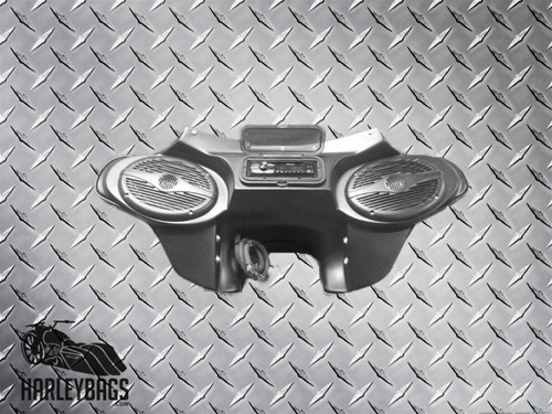 "Headlight Batwing Fairing with Radio / CD / MP3 6""x9"" Speakers - Harley Softail"