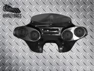 Headlight Batwing Fairing with Radio/CD + Quad (4) Speakers -  Softail