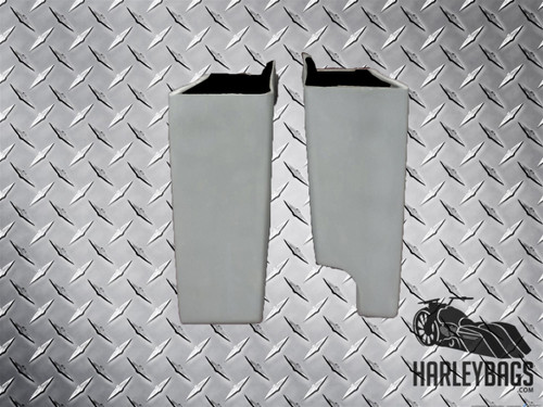 """Touring Harley 4"""" Stretched Extended Hard Saddle Bags"""