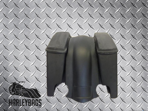 "Harley 4"" Stretched Saddle Bags & Fender Set with Dual Cut Outs"