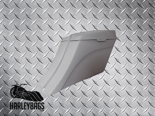 "2014 ""Down + Out"" Style Stretched Saddlebags 6x9 Speaker Lids -Harley Motorcycle"