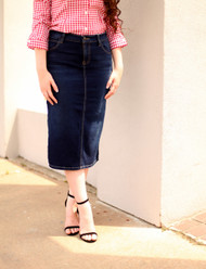 Candace Premium Denim Skirt