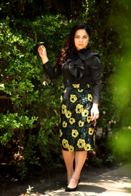 Chloe Floral Print Lace Skirt