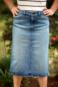 Heather Premium Denim Skirt - IN STOCK