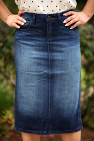 A Zoe Premium Denim Skirt - IN STOCK