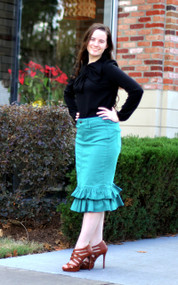 Julia Ruffle Skirt - Aruba Blue