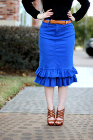 Julia Ruffle Skirt - Royal