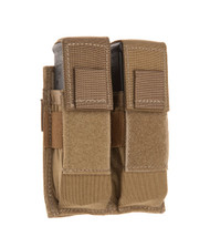 TAC SHIELD Double Universal Pistol Mag Molle Pouch (Coyote)
