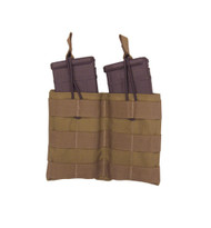 TAC SHIELD Double Speed Load Rifle Mag Molle Pouch (Coyote)