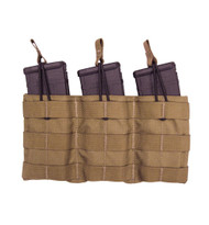 TAC SHIELD Triple Speed Load Rifle Mag Molle Pouch (Coyote)