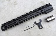 Mega Arms AR-15 Wedge Lock Extended Rifle Length M-Lok Hand Guard (WLH-550-ML) - 14""