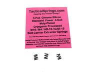 Tactical Springs AR15/M4/M16 Enhanced 4-Coil Bolt Extractor CS Spring 3-Pak  (25435)
