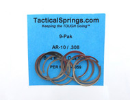 Tactical Springs AR-10 (.308) Bolt Ring / Gas Ring (9-Pack)