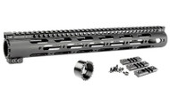 "Midwest Industries 15"" Gen2 SS-Series One-Piece Free Float Handguard - Black"
