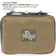 "Maxpedition Hook-and-Loop 5""x7"" Zipper Pocket (Khaki-Foliage)"