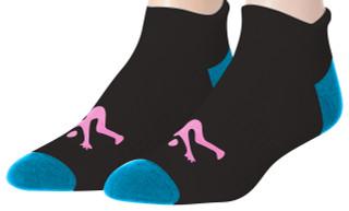 Ankle Sport Socks Black and Turq