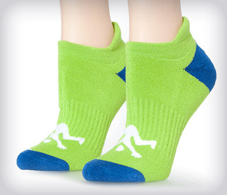 Ankle Ladies Socks Lime Sport