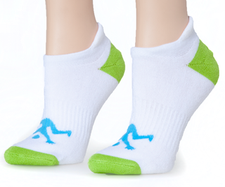 Ankle Ladies Socks White Sport Lime