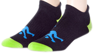 Ankle Mens Socks Black & Lime Sport