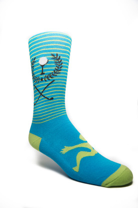Fancy Men's Golf Motif Turquoise/Lime