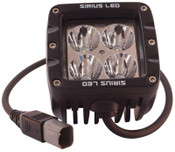 MotoAlliance Sirius Pro Series LED Flood Driving Light- 20 Watt