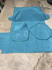 67-71 Jeepster Green Touquoise Carpet kit