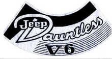 Decal 70-71, CJ  Air Cleaner