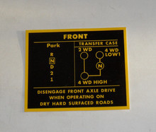 Decal Transfer Case Selector pattern