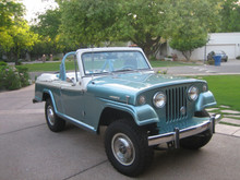 bumperettes installed on 66-73 jeepster and commandos. Highly Falkner