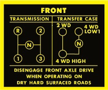 standard transmission and d 20 t case deacl sticker